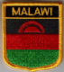 Malawi Embroidered Flag Patch, style 07.